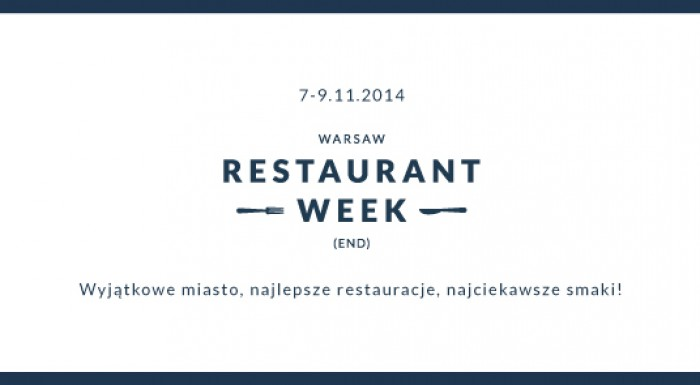 Warsaw Restaurant Weekend 2014