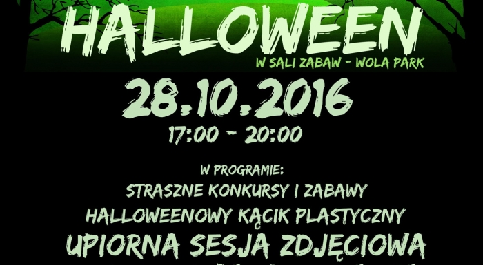 Halloween party for kids at Labibu in Wola Park.