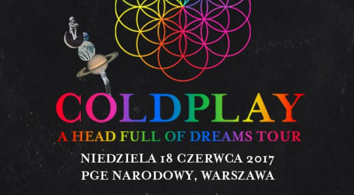 Coldplay with a concert in Poland