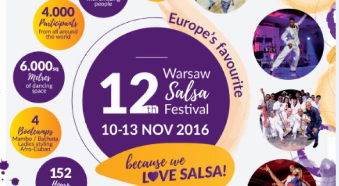 Między 10 a 13 listopada odbędzie się słoneczny spektakl tańca i wina.  Warszawa, za sprawą wina El Sol zamieni się w gorącą stolicę pełną tańca i radości.  Wydarzenie to ma na celu propagować wielokulturowość, wolność i otwartość, wyrażaną w tańcu.  Na wydarzeniu wystąpi aż 110 artystów, odbędą się 3 koncerty latynoskich orkiestr, 50 pokazów artystów oraz konkurs talentów. Więcej na: www.salsafestival.pl