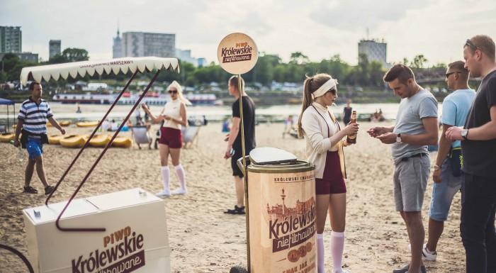 Królewskie Niefiltrowane beer with classic Warsaw flavours